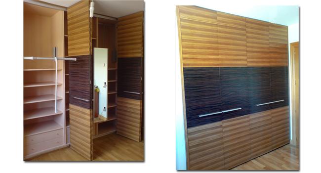 Armario empotrado dos colores javi orbara - Interiores armarios empotrados puertas correderas ...
